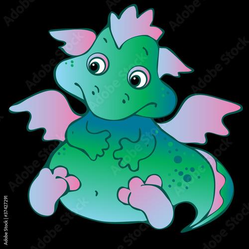 Tuinposter Dinosaurs Baby dragon.