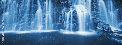 Canvas Prints Forest river Waterfall