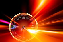 Speedometer Night Road
