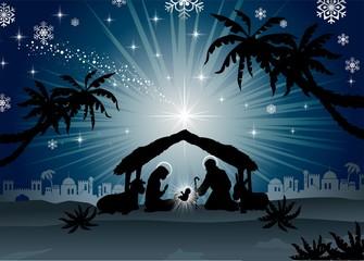 Holy Family in Bethlehem si...