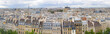 Panorama of of Paris, France with the Eiffel tower