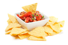 Nachos Corn Chips With Homemad...