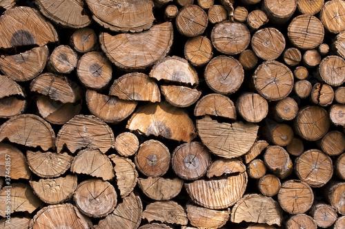Bûches de bois de chauffage Tableau sur Toile