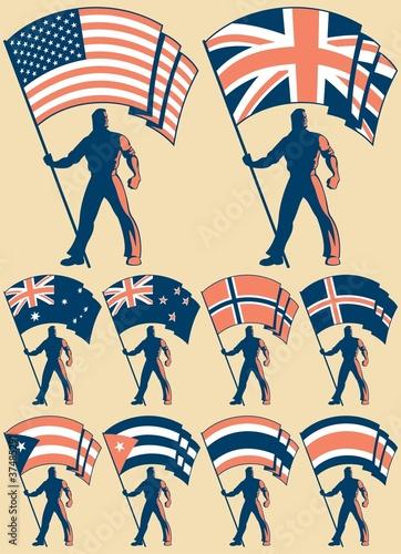 Flag Bearer 2 Canvas Print