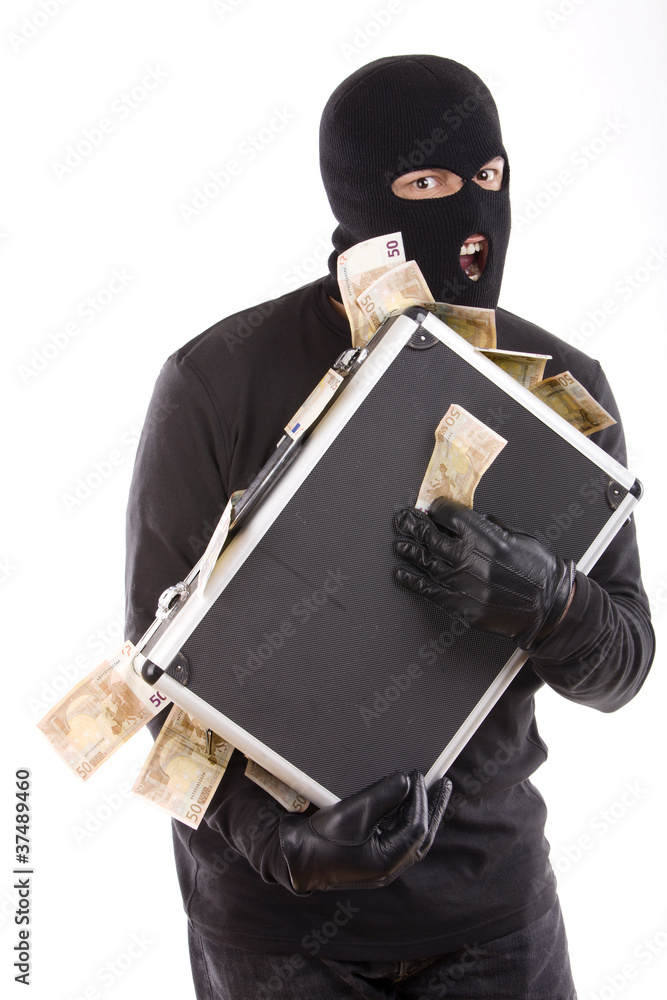 Fototapeta thief with money