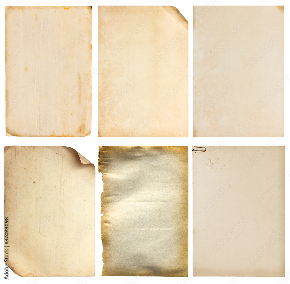 Fototapety, obrazy: Set of old vintage paper background (clipping path)