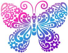 Butterfly Swirls Tatto Vector ...