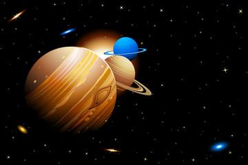 Fototapeta na wymiar Solar System