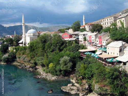 Printed kitchen splashbacks Turkey veduta di mostar, bosnia herzegovina