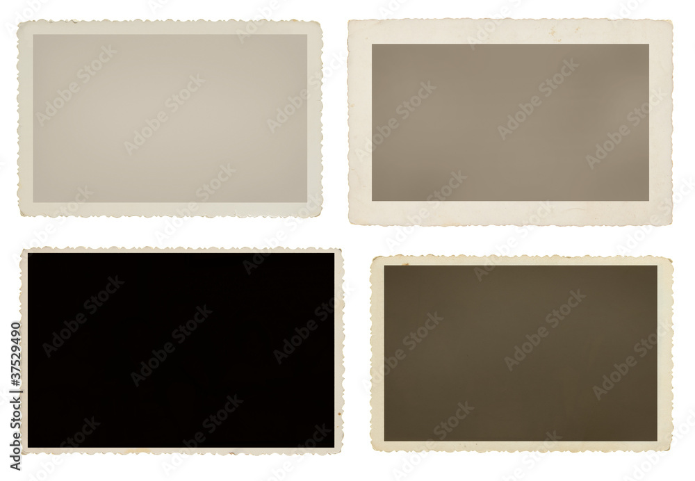 Fototapety, obrazy: Set of four vintage blank picture frames with clipping paths
