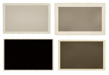 Set Of Four Vintage Blank Picture Frames With Clipping Paths