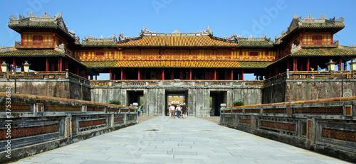 Fotografie, Obraz  porte de la citadelle impérial de Hué