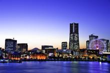 Evening View In Yokohama, Japan