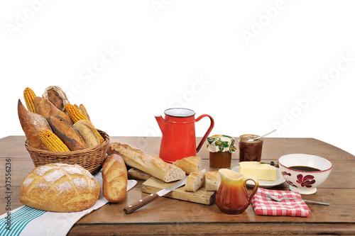 Fotografie, Obraz  un petit déjeuner traditionnel