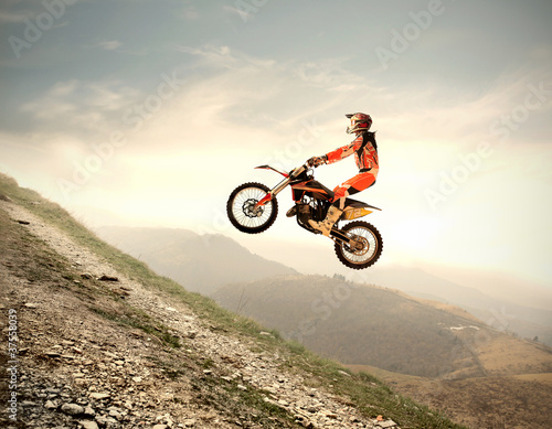Foto-Doppelrollo - Motocross (von olly)