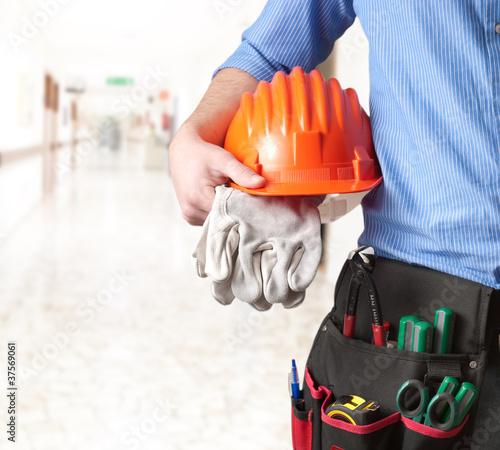 Fototapeta Maintenance technician -Tecnico
