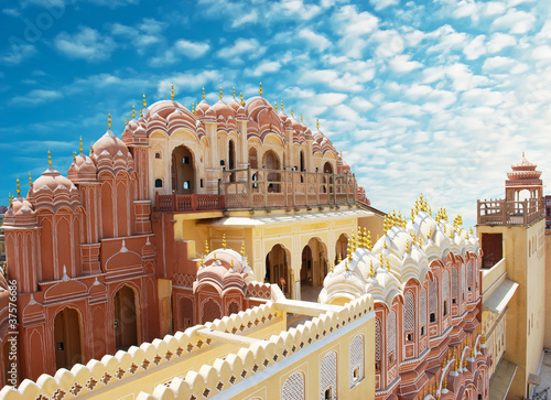 Spoed Foto op Canvas India Hawa Mahal, the Palace of Winds, Jaipur, Rajasthan, India.