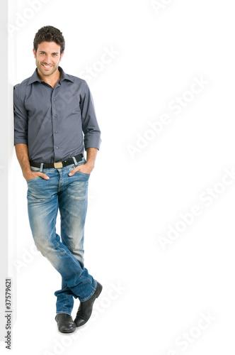 Smiling man full length