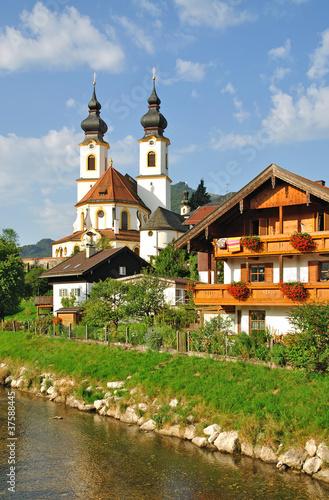 Canvas Prints Krakow Urlaubsort Aschau im Chiemgau