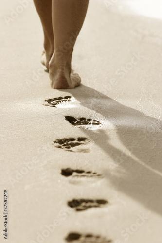 Foto Rollo Basic - Fußspuren (von Torsten Paris)