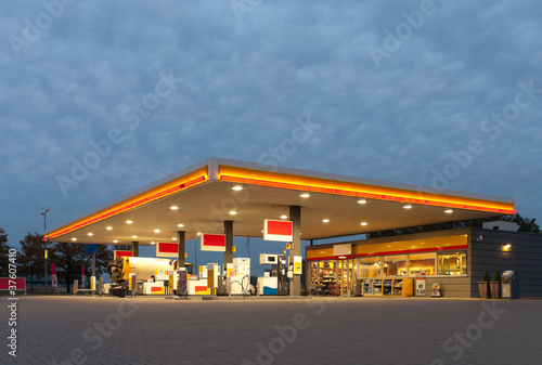 Fotografie, Tablou gas station