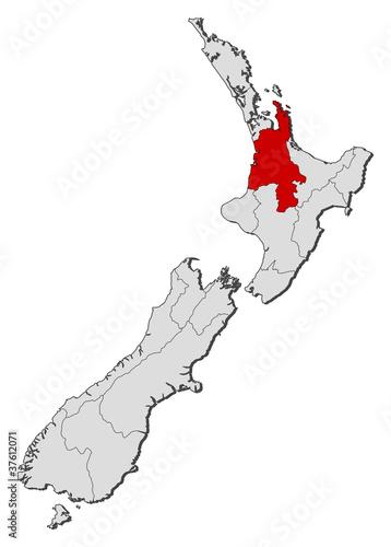 Waikato New Zealand Map.Map Of New Zealand Waikato Highlighted Buy This Stock Vector And