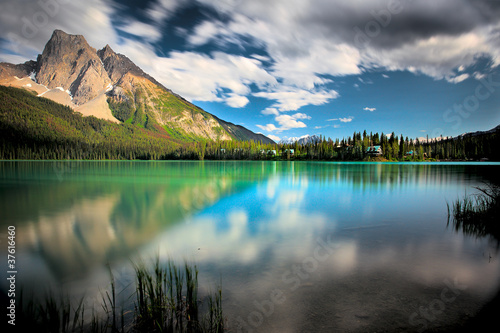 Spoed Foto op Canvas Canada Emerald Lake