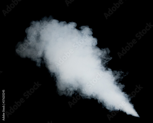 Fotobehang Rook white smoke on black