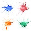 Abstract hand drawn watercolor drops