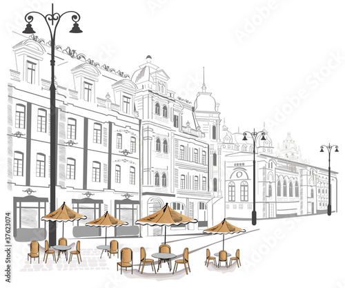 series-of-street-cafe-in-sketches