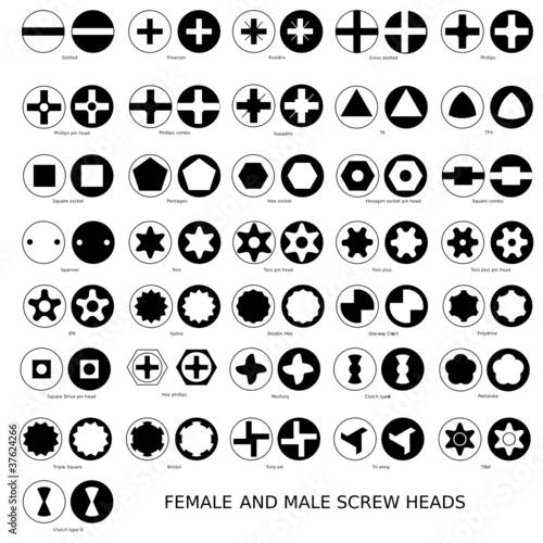 Fotografie, Obraz  Web Art Design SCREW HEADS INDUSTRY VIS INDUSTRIE 010