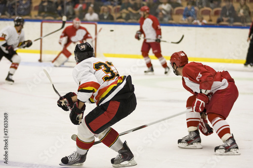 fototapeta na lodówkę Hokej na lodzie gry