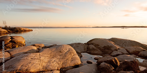 Photo Evening at the archipelago in Sweden.