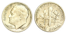 One Dime Coin Of USA Of 1946