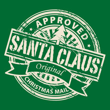 Stamp With Text Santa Claus - Christmas Mail