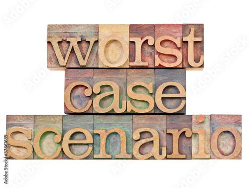 Fotografía  worst case scenario - risk concept
