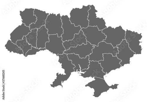 Fotografie, Obraz Map of Ukraine