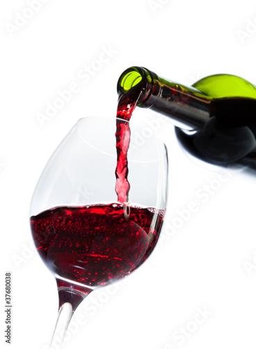 In de dag Wijn vin rouge bouteille