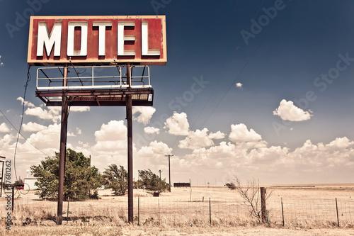 Papiers peints Route 66 Old motel sign