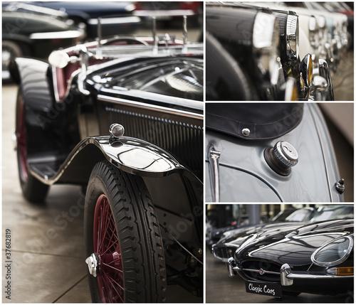 Spoed Foto op Canvas Vintage cars Bilderreihe Oldtimer