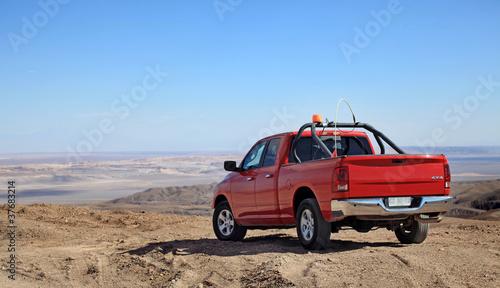 Obraz offroad in the desert - Offroad in der Wüste - fototapety do salonu