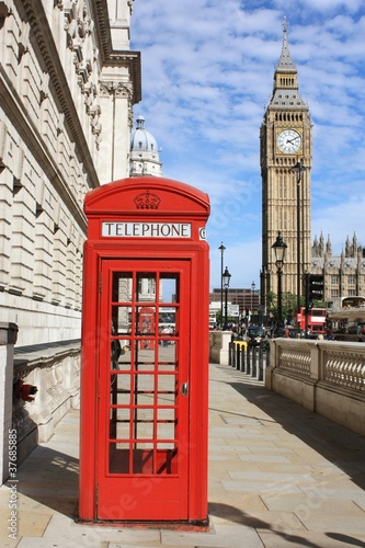 Foto op Canvas Londen London Red Telephone Booth