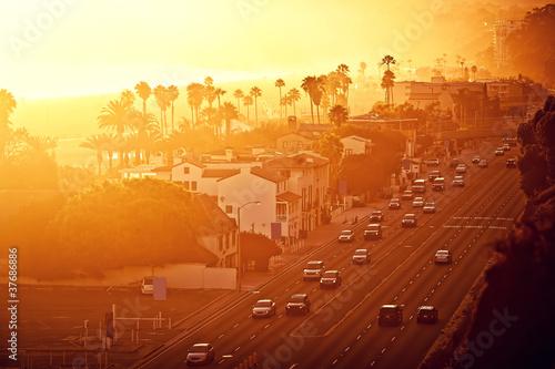 Plakat Sunset at Santa Monica, California