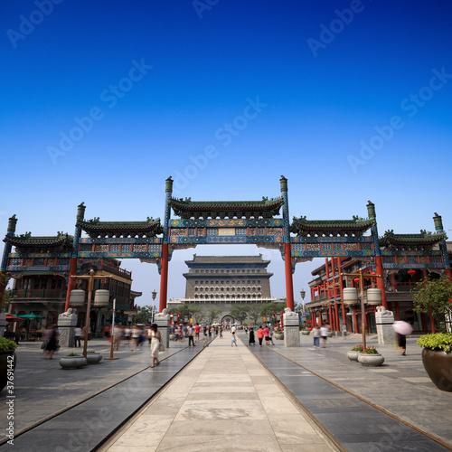 Poster Pekin beijing qianmen street