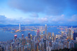 sunset of cityscape in Hong Kong