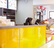 canvas print picture - Interior of a fast food restaurant