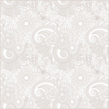 Seamless Flower Paisley Design Background