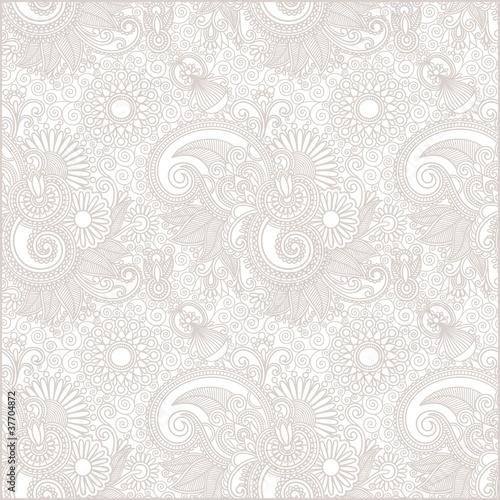 Materiał do szycia seamless flower paisley design background