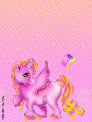 Tuinposter Pony little pony