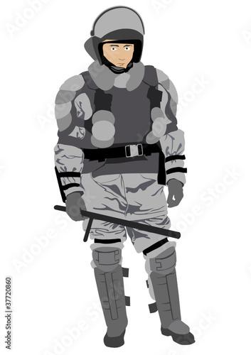 Deurstickers Militair Police man